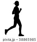 ランナー 走者 マラソンのイラスト 38865985