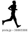 ランナー 走者 マラソンのイラスト 38865988