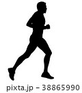 ランナー 走者 マラソンのイラスト 38865990