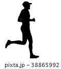 ランナー 走者 マラソンのイラスト 38865992