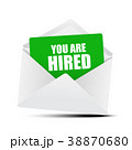 You Are Hired Card in Envelope 38870680