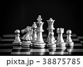 The King in battle chess game stand on chessboard 38875785