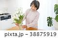 花を生けるシニア女性 38875919