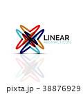 直線的 線 線状のイラスト 38876929