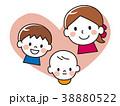親子 笑顔 赤ちゃんのイラスト 38880522