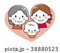 親子 赤ちゃん ハートのイラスト 38880523