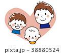 親子 笑顔 赤ちゃんのイラスト 38880524