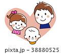 親子 笑顔 赤ちゃんのイラスト 38880525