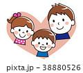 親子 笑顔 赤ちゃんのイラスト 38880526