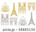 パリ アイコンセット  38883130