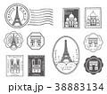パリ スタンプセット 38883134