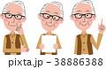シニア 男性 バリエーションのイラスト 38886388