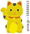 金の招き猫 小判 38886613