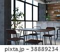 カフェ インテリア 店舗のイラスト 38889234