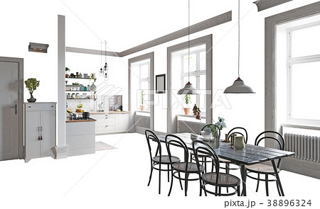 Isolated home interior 38896324