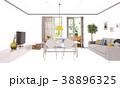 白背景 切り抜き 家庭のイラスト 38896325