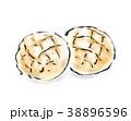 メロンパン パン 菓子パンのイラスト 38896596
