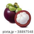 Mangosteen isolated on white background 38897548