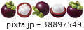 Mangosteen set. Several options of fruit isolated  38897549