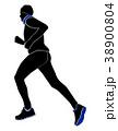 ランニング 走る ランナーのイラスト 38900804