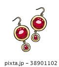 イヤリング 耳飾 耳飾りのイラスト 38901102