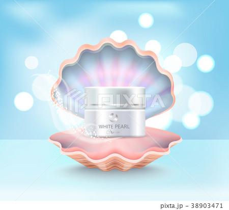 Cosmetic Cream Jar in Shell Vector Illustration 38903471