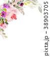 フローラル 背景 カラーのイラスト 38903705