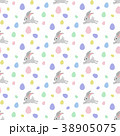 Easter bunny seamless pattern 38905075