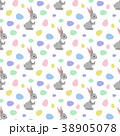 Easter bunny seamless pattern 38905078