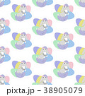 Easter bunny seamless pattern 38905079