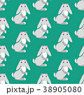 Easter bunny seamless pattern 38905080