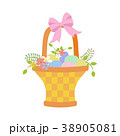 Easter basket with eggs 38905081