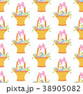 Easter basket with eggs seamless pattern 38905082