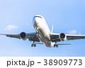 飛行機 旅客機 ジェット機の写真 38909773