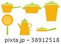 北欧風キッチン鍋アイコン 38912518