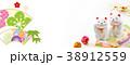 年賀バナー2019 招き猫 38912559