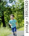 公園を走る男の子 38913820
