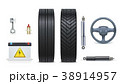 Icons of Car parts for garage, auto car services 38914957