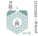 Children's maze with Prince and fairytale castle 38922012