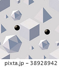Pattern with 3d shapes. 38928942