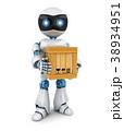 ロボット ポスト 郵便のイラスト 38934951