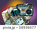 astronaut with Boombox, audio and music 38936077