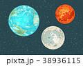 惑星 火星 地球のイラスト 38936115