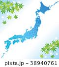 日本地図 夏 涼しい 38940761