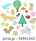 森 動物 自然のイラスト 38941902