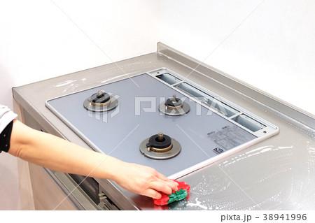 ガスコンロを掃除する 38941996