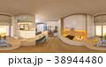 3d illustration spherical 360 degrees, seamless 38944480