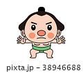 相撲 力士 人物のイラスト 38946688