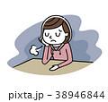 女の子:悩み、落ち込む 38946844