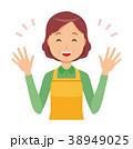 中年 女性 主婦のイラスト 38949025
